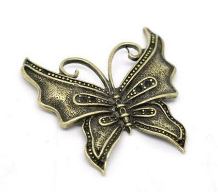 Vlinder Bedel brons