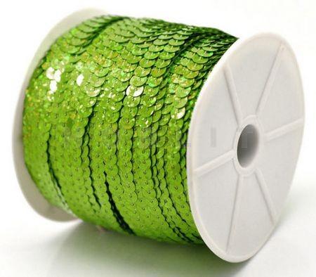 1 Meter Paillettenband AB Groen