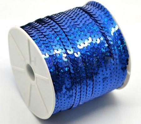 1 Meter Paillettenband AB Kobalt Blauw