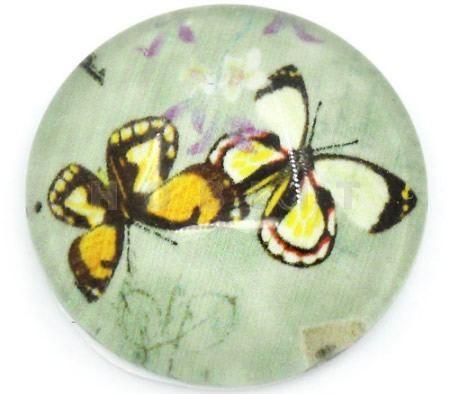 Glazen Cabochon Vlinders