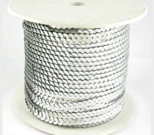 1 meter Paillettenband zilver Paillet: 5 x 1 mm