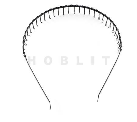 Haarband zwart metaal