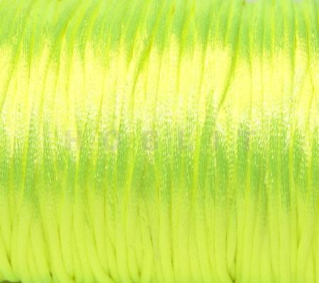 1 Meter nylon soepel vallend koord neon geel
