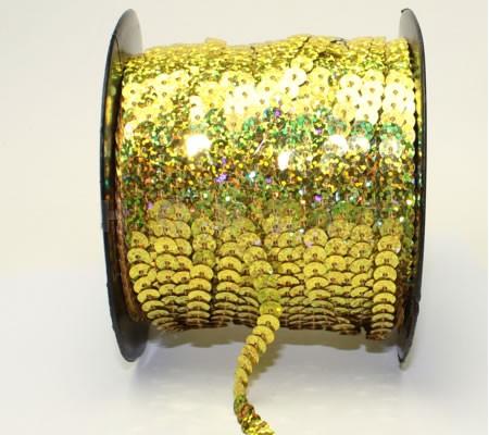 1 Meter Paillettenband AB geel