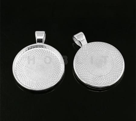 Cabochon Houder Licht Zilver 25 mm