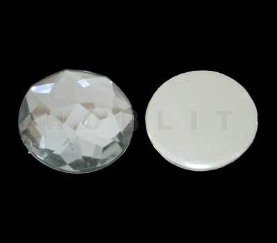 Cabochon zilver transparant
