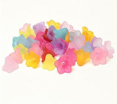 25 stuks frosted bloemen mix