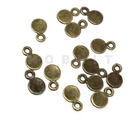 20 stuks mini bedeltjes brons