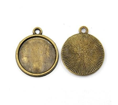 Cabochonsetting brons