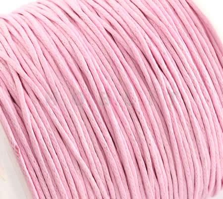 1 meter Wax Koord Katoen per meter Roze