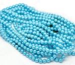 Snoertje Glasparels 4 mm Turquoise