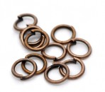 200x Roodkoper Open ring 5 mm
