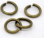 100 stuks Open ring brons 5 mm