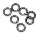 100 stuks open ring 4 mm Antraciet