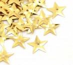 6.5 gram (200 stuks) Pailletten ster goud