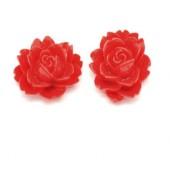 1 stuks kunsthars roosje Licht Rood