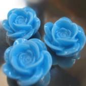 1x roosje Midden blauw/Turquoise