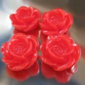 1x roosje licht rood