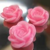 1x roosje midden roze