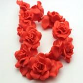 1x Fimo roos Oranje/Rood 3 cm
