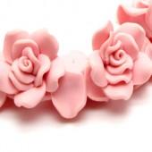 1x Fimo roos Pastel Roze 3 cm