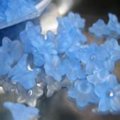 100 stuks Frosted Bloem blauw/lila