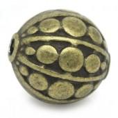 5x Bronzen Kraal 10 mm