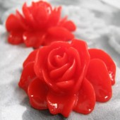 1 stuks kunsthars Rood