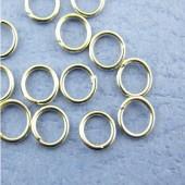 100 stuks Open ring donker zilver 5 mm