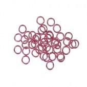 50 stuks open ring 6 mm Fuchsia