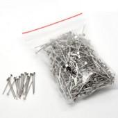 350x nietstiften donker zilver 22 mm