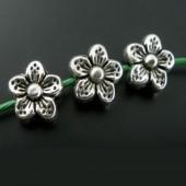 10x Metalen bloemetje 9 mm
