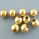 25x metaal rond goudkleurig 8 mm