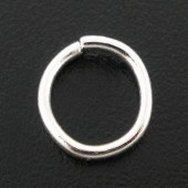 50x Open ring Lichtzilver 8 mm