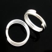 50x Splitring Licht zilver 6 mm