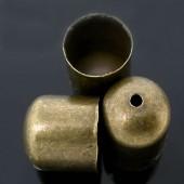 2x Eind kappen Brons