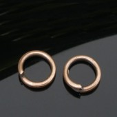 100x Roodkoper Open ring 6 mm