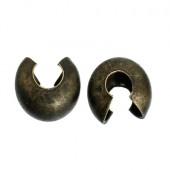 50 Afdekkralen voor knijpkraaltjes Brons