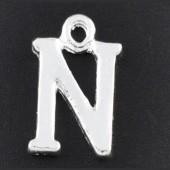 "1x Bedel lichtzilver - letter ""N"""