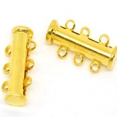 3-rij magneetslot goudkleurig