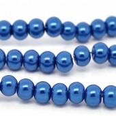 Snoertje Glasparel 8 mm Kobalt Blauw