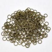 1000 stuks Open Ring brons 6 mm