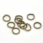 100 stuks Open ring brons 7 mm
