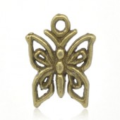 Bedeltje Kleine Vlinder Brons