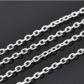 Ketting / Jasseron Licht Zilver
