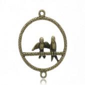 1x Connector - Bedel met vogeltjes