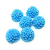 Cabochon chrysant Midden blauw