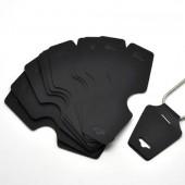 10 x kettingkaartjes zwart