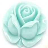 1x kunsthars roosje Licht Turquoise