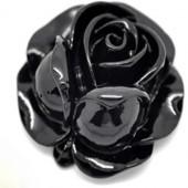 1 stuks kunsthars roosje zwart